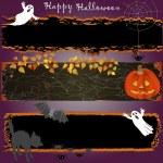 Grunge Halloween banners. — Stock Vector