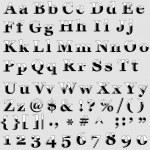 English alphabet. — Stock Vector #6244411