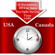 Stockvektor : Daylight saving time ends.
