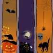 Stock Vector: Halloween banners.