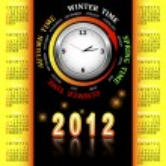 American calendar 2012. — Stock Vector #6352440