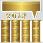 American calendar 2012. — Stock Vector #6352521