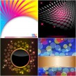 Set abstract backgrounds. — Imagen vectorial