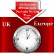 Vector de stock : Daylight saving time ends.