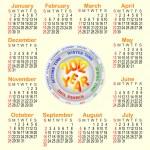 American calendar 2012. — Stock Vector #6461334
