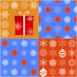 Seamless christmas pattern. — 图库矢量图片