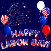 Happy Labor Day. — Stockvector