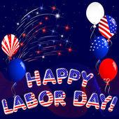 Happy Labor Day. — Stock Vector