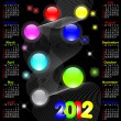 Calendar for 2012. — Stock Vector