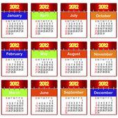 Calendario per il 2012. — Vettoriale Stock