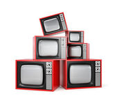 Heap of Retro TV — Stock Photo