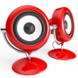 Retro speaker system - Stock Photo