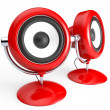 Stock Photo: Retro speaker system