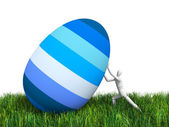 Man and Easter egg — Stock Photo