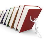 Under weight of knowledge — Stock Photo