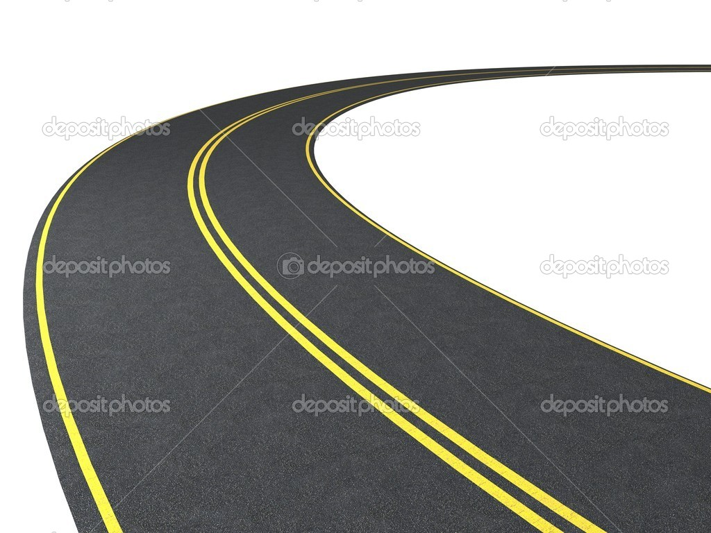Road isolated on white — Stock Photo #5543129