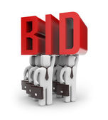 Bid sign — Stock Photo
