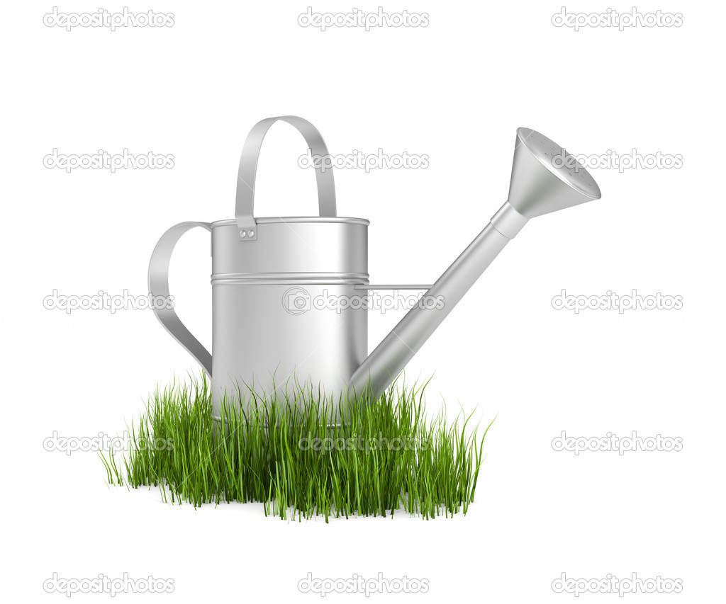Watering can isolated on white — Stock Photo #6215487