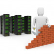 Security firewall building. — Stock Photo