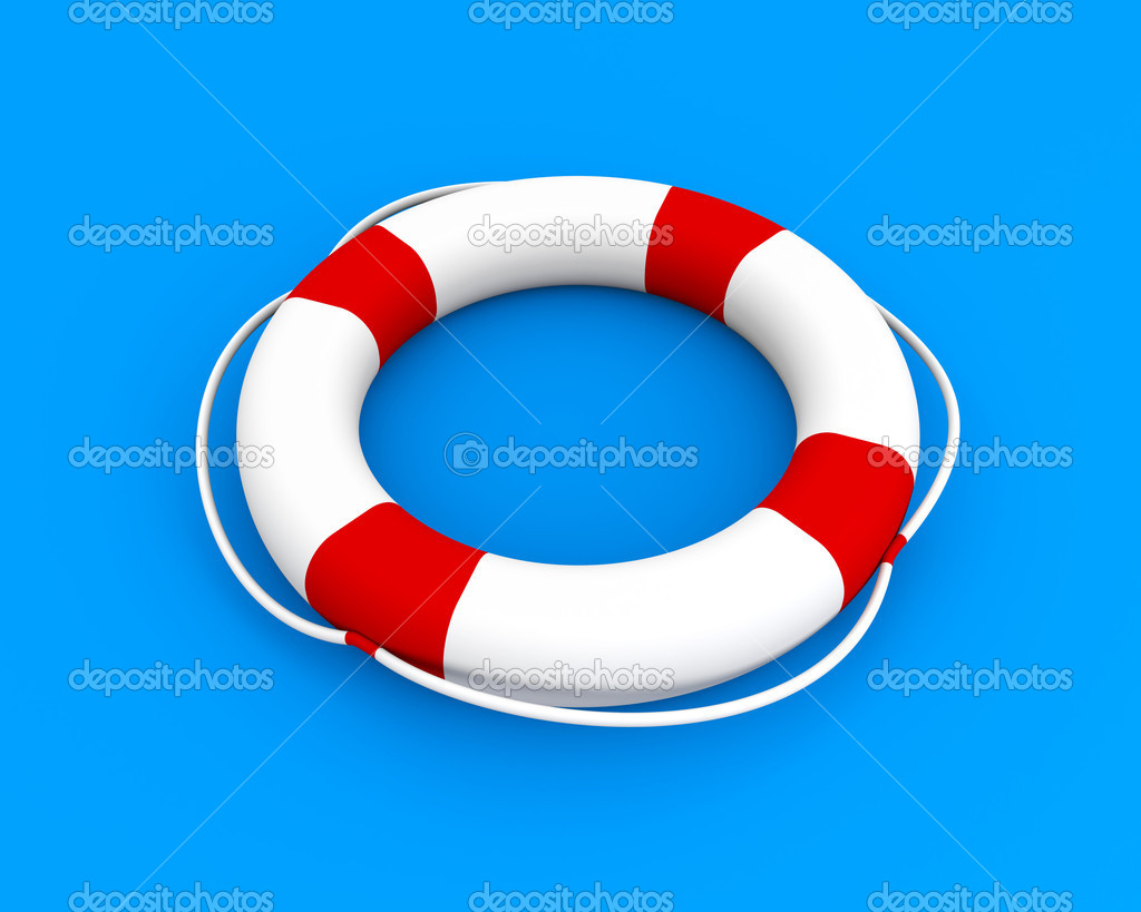 Life buoy isolated on white  Stock Photo #6249773