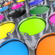Stock Photo: Buckets with a paint