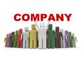 Concetto di business isolato su bianco — Foto Stock