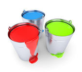 RGB - Buckets with a paint — Stock Photo