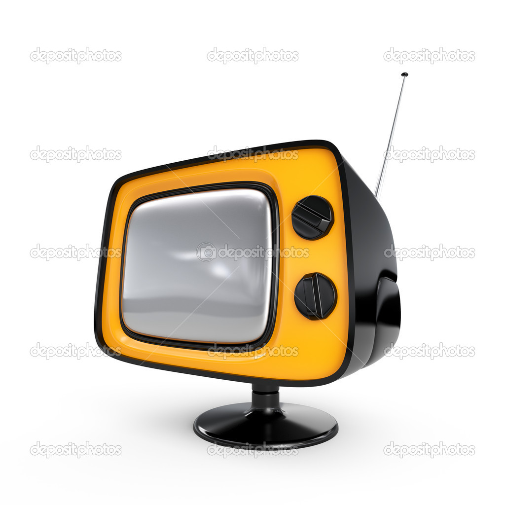 Stylish retro TV - Black edition. More TV in my portfolio. — Stock Photo #6311824