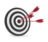 Target with three arrow — Stock Photo