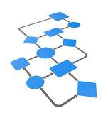 Diagrama de gráfico — Fotografia Stock