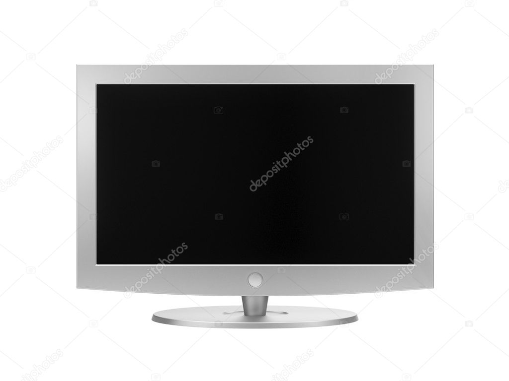 HD TV. Isolated on white  Stock Photo #6581362