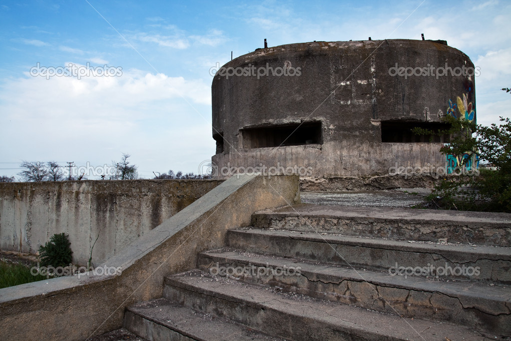 Abandoned Military Bunkers for Sale http://depositphotos.com/5565589/stock-photo-Military-bunker.html