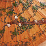Ручная роспись бумага зонтик — Стоковое фото