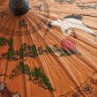 Hand painted paper umbrella — Stockfoto