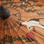 Hand painted paper umbrella — Stock Photo