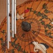 Hand painted paper umbrella — Stock fotografie