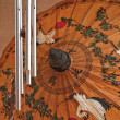 图库照片: Hand painted paper umbrella
