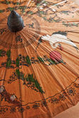 Hand painted paper umbrella — Stock Photo