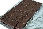 Block chocolate brown — Stock Photo