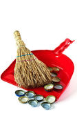 Small household broom — Stock Photo