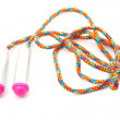 Stock Photo: Colorful jumping rope in closeup