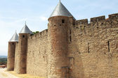 Ancient castle of carcasonne — Stock Photo