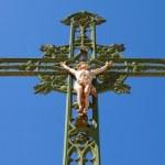 Statue of jesus on cross — Stock Photo #5803192