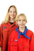 Two Dutch scout girls — Stock Photo