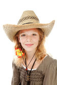 Young girl with western hat — Стоковое фото