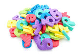 Pile of colorful foam letters — Stock Photo