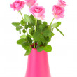 Bouquet of pink roses in vase — Stock Photo #6255835