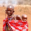 Stock Photo: MASAI MARA, KENY- JULY-2-2011: unidentified Africwomen from