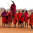 AFRICA, KENYA, MASAI MARA - JULY 2: Masai warriors dancing tradi — Stock Photo #6407051
