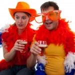 Two Dutch soccer fans — Stock Photo #6408167